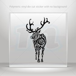 Stickers Decal Tribal Deer Figure Car Door Hobbies Sports Car Durable Black (45 X 23.5 In)