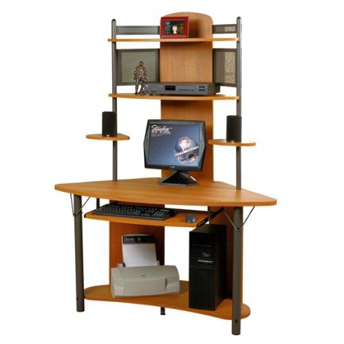 Picture of Comfortable Corner Computer Desk with Hutch (B0052VP0K2) (Computer Desks)