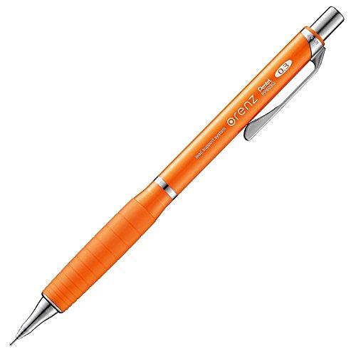 ぺんてる シャープペンシル オレンズ ラバーグリップ付き 0.3mm オレンジ XPP603G-F