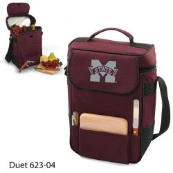 Ncaa Mississippi State Bulldogs Duet Insulated Wine And Cheese Tote With Team Logo