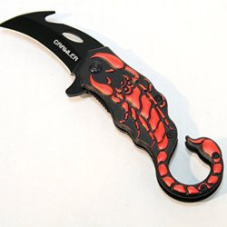 """6.5"""" Folding Spring Assisted Knife With A Scorpion Shaped Handle Good Quality"""