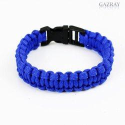 Survival Paracord Bracelets, You Choose The Size, Sea Blue