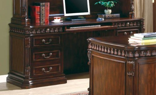 Picture of Comfortable Home Office Computer Desk in Rich Brown Finish (B0044FVHBS) (Computer Desks)