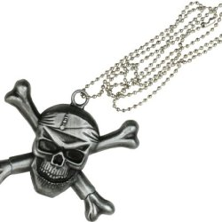 Master Cutlery Pirate Skull Necklace Knife