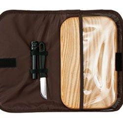 Chill-N-Go® Glove Box Picnic, Leather Picnic Travel Set (Sand Gator)