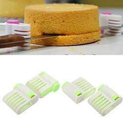 Ensunpal Store Hot Sale 5 Layers Kitchen Diy Cake Bread Cutter Leveler Slicer Cutting Fixator