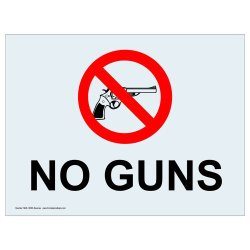 Compliancesigns Clear Vinyl Weapons Restricted Label, 5 X 3.5 In. With Front Adhesive, English, 4-Pack