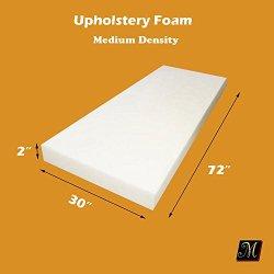 "2"" X 30"" X 72"" Upholstery Foam Cushion Medium Density (Seat Replacement , Upholstery Sheet , Foam Padding)"