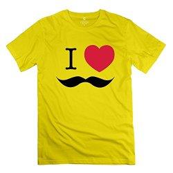 Mens Mustache Like Boss T Shirt - Funny Custom Yellow T Shirt