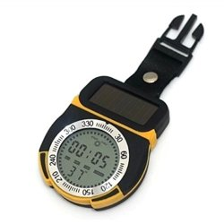 Multifunction Digital Waterproof Lcd Altimeter Compass Thermometer With Barometer Time Weather Forecast For Hiking Camping Fishing