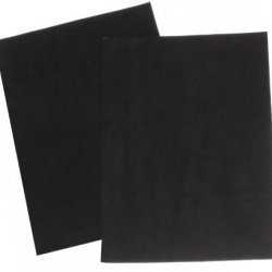 "2-Pack Of Premium Quality Suede Sheets 8.5""X12"" With Super-Strong Self-Adhesive Backing. Ideal For Making Peel-And-Stick Soles For Dance Shoes . [Suede-Diy-2Pk-Black-R02]"