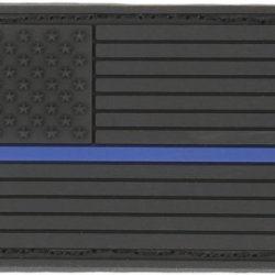 Maxpedition Gear Small Usa Flag Patch, Le Thin Blue Line, 2 X 1-Inch