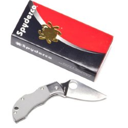 Spyderco Manbug Mggyp Folding Blade Knife G-10 Handle Gray