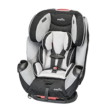 Evenflo Symphony LX Car Seat The only seat you'll ever need! The Evenflo Symphony LX All-In-One Car Seat features Quick Connector Latch, quickly and safely attaches and detaches the car seat from the vehicle with one hand! The Infinite Slide harness ...