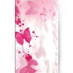Ukase Hot Selling Fashion Pink Butterflies Back Case Cover For Apple Iphone 6 Plus 5.5Inch