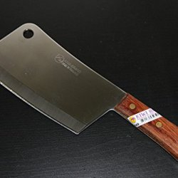 """7"""" Kiwi Brand Cook Knife (No. 840) - Great Bone Cleaver From Thailand (Free 4 Piece Carving Knife)"""