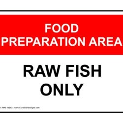 Compliancesigns Aluminum Food Prep / Kitchen Safety Sign, 14 X 10 In. With English Text, White