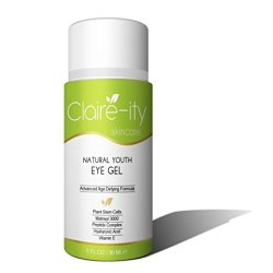 Eye Cream For Dark Circles, Puffiness, Bags & Wrinkles (1 Oz/30 Ml) - The Most Effective Organic Eye Gel That Addresses Every Eye Concern - Formulated With Plant Stem Cells, Matrixyl 3000, Hyaluronic Acid, Cucumber, Vitamin E, Aloe, Msm & More!