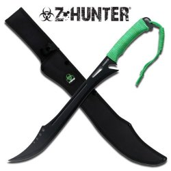 """Zb-053 Zombie Hunter M5Lss87 Full Tang Machete Green Cord Handle 25"""" Gtuh1P Overall Ayeuiu56 Hlbv23Rt Fixed Blade Machete25"""" Stainless Steel Black Blade With Ihaeh Blood Groovefull Tang Constructionneon Zombie Green Cord Meosoysjhi Wrapped Handleincludes"""