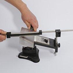 Professional Knife Scissors Sharpener Grinder Fix-Angle 4 Stones (120#, 320#, 600#, 1200#) Kitchen Sharpening Tool