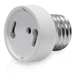 2Pcs E26/E27 To Gu24 Adapter - E26/E27 Edison Screw To Gu24 Bayonet Base Bulb Socket Adapter Converter