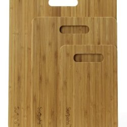 """Surpahs Larger Bamboo Cutting Board Set, 3-Ply Cross Laminated, 3 Pieces (15""""/12""""/9"""")"""
