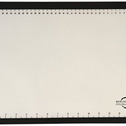 "Mercer Culinary M31093Bk Silicone Bake Mat With Black Border, Half Size, 11 7/8"" By 16 1/2"", Black"