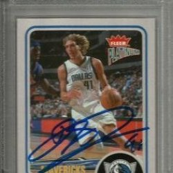 2002 Fleer Platinum Dirk Nowitzki Signed Trading Card Slabbed - Psa/Dna Certified - Signed Nba Basketball Cards