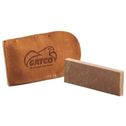 Gatco Soft Arkansas Pocket Stone With Case, Natural Stone, 3-Inch