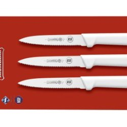 Mundial Scw0547-4E 4-Inch Paring Knife Collection, Set Of 3, White