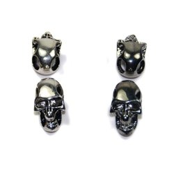 10Pcs Mixed Charm Metal Skull For Paracord Knife Lanyards Flq054-2/4(Mix-S)