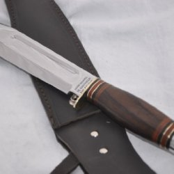 "New Hand Forged Genuine Rosewood Bowie Sheffield !! 13 "" L@@K"