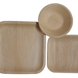 Table To Go 75-Piece Palm Leaf Square Dinnerware Set