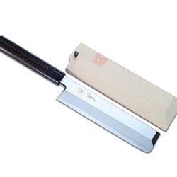 Yoshihiro Shiroko High Carbon Steel Kasumi Edo Usuba Vegetable Japanese Chef'S Knife 8.25 Inch(210Mm) Shitan Handle