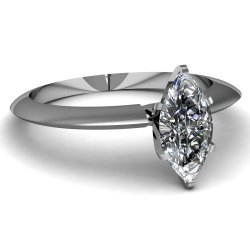 Fascinating Diamonds 0.75 Ct Marquise Cut Diamond Solitaire Knife Edge Engagement Ring Si2-G 14K Gia