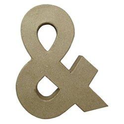 Paper Mache Ampersand 9 In. By Craft Pedlars