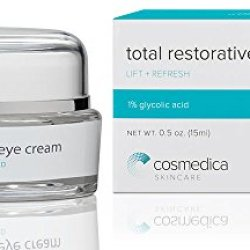 Total Restorative Eye Cream --Best Eye Cream For Dark Circles Under Eyes, Puffy Eyes, Fine Lines, Crows Feet, Wrinkles, Puffiness --Green Tea, Fruit Extract And Peptide Complex Formula 1% Glycolic Acid