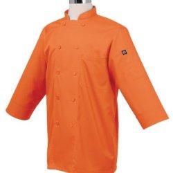 Chef Works Jlcl-Ora-Xl Basic 3/4 Sleeve Chef Coat, Orange, Xl