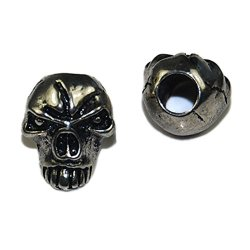 10Pcs Charm Metal Skull Beads For Paracord Bracelet Knife Lanyards Jewelry Making Accessories Flq076-S