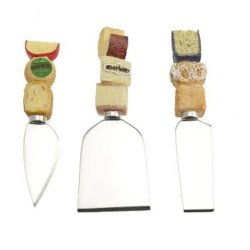 Set Of 3 Assorted Cheeses Spreaders & Cutters