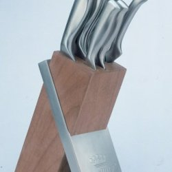 Berghoff Stainless Steel Hollow Handle Knife Block Set 7 Piece