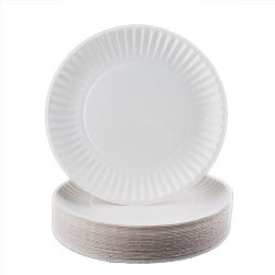 """White 9"""" Paper Plates - 300 Count"""