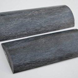 Gray Grey Bone Scales Handle Handles Knife Making Blanks Blades Knives Set Pair 5 Inch For Custom Handles