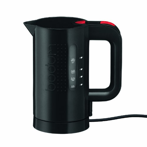 Bodum 11451-01US 17-Ounce Electric Water Kettle, Black