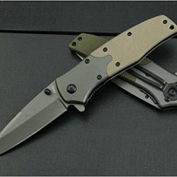 Rough Rider Knivesw Army Green Smooth New Pocket Knife Fa02-7.87''