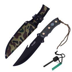 Yes4All H266A Hunting Survival Tactial Knife + Nylon Sheath And Fire Starter - ²Hkiiz