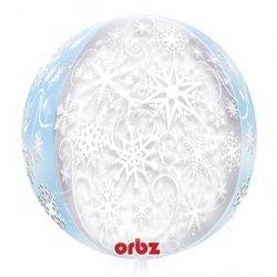 Orbz Snowflake See-Thru Round Foil Balloon (2-Pack)