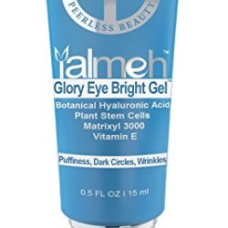 Yalmeh Advanced Formula Glory Eye Bright Gel For Dark Circles☆Puffiness☆Bags ☆Wrinkles☆Botanical Hyaluronic Acid, Plant Stem Cells, Peptides, Matrixyl 3000, Co Q10, Vitamin E And Organic Aloe☆Eye Gel Treatment Solution For Eye Bags☆Crow'S Feet And Nearly