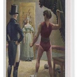 Canvas Print Of Knife Thrower/Circa 1880