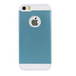 Iphone 5 Blue Case: Blue Aluminum Metal (7H Hardness, Blue) On Hard Apple Iphone 5 5S Case Cover With Soft Silicone Cushion. Blue Amplim Alloy Fs (At&T, Verizon, Sprint, T-Mobile Iphone 5 5S) Retail Packaging, Apple Iphone 5 5S Blue Case Cover, Apple Ipho